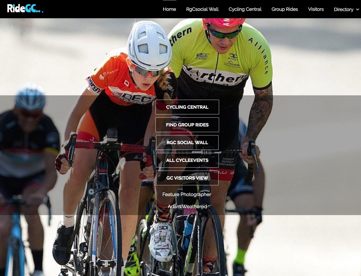 RideGC Front Page